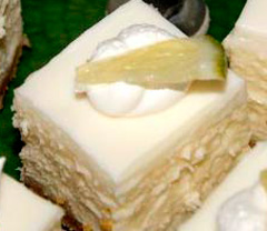 Keylime Cheesecake Squares Header Image